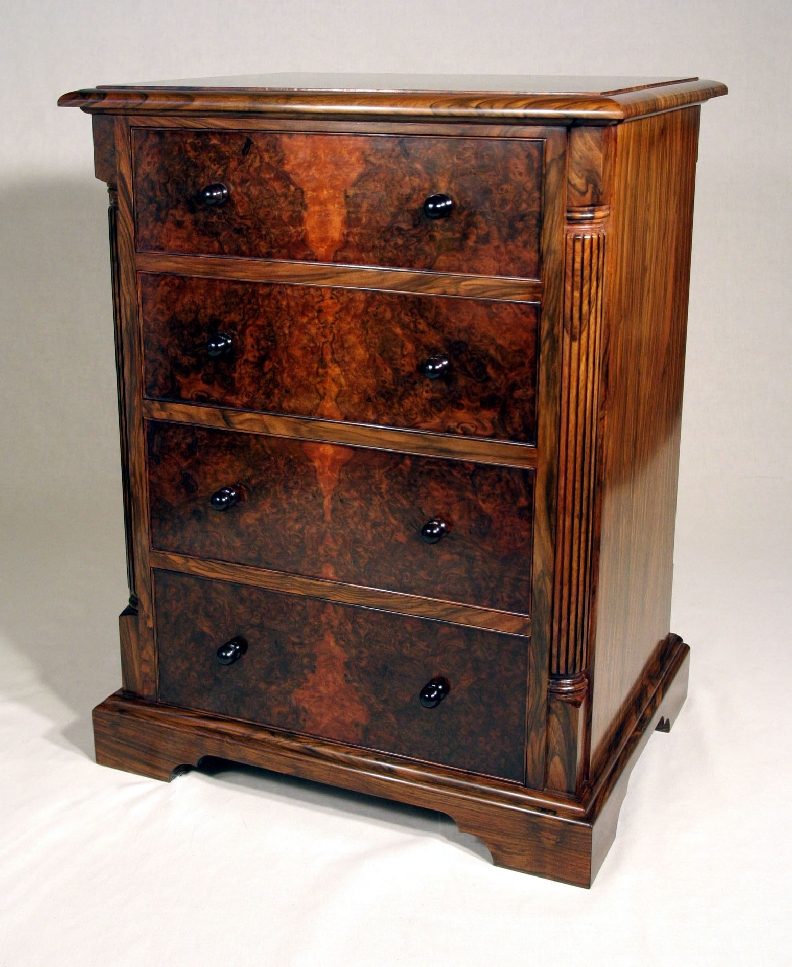 Walnut Cutlery Cabinet – Roger Michael Fine Furniture